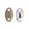Preciosa Sew-on Mc Oval 2Hole 18x11mm Crystal Aurora Borealis